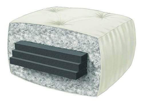 Serta Pinehurst Double Sided Foam and Cotton Queen Futon Mattress, Natural, Made in the USA
